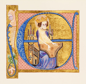 Illuminated E luttrell Psalter