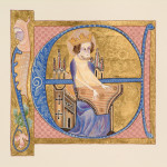 Luttrell Psalter Illuminated E by Toni Watts