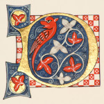 Luttrell Psalter illuminated letter D by Toni Watts