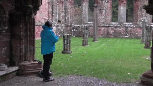 Sketching Furness Abbey Chapter House