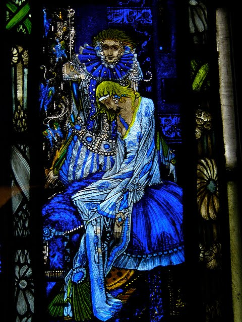 The eve of st agnes stained glass by Harry Clarke