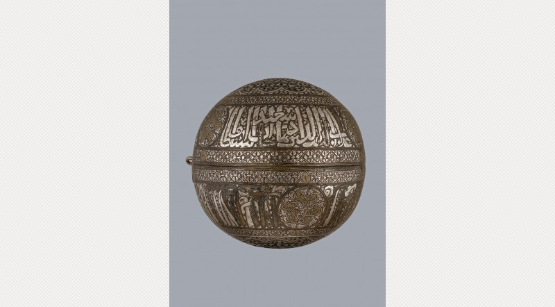 Spherical incense burner, probably Mosul, early fifteenth century. Photo: The Art Fund.