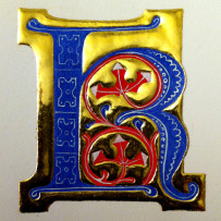 How to gild an illuminated letter using gesso – a workshop