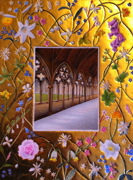 Illuminated manuscript Lincoln Cathedral Mary Garden by Toni Watts