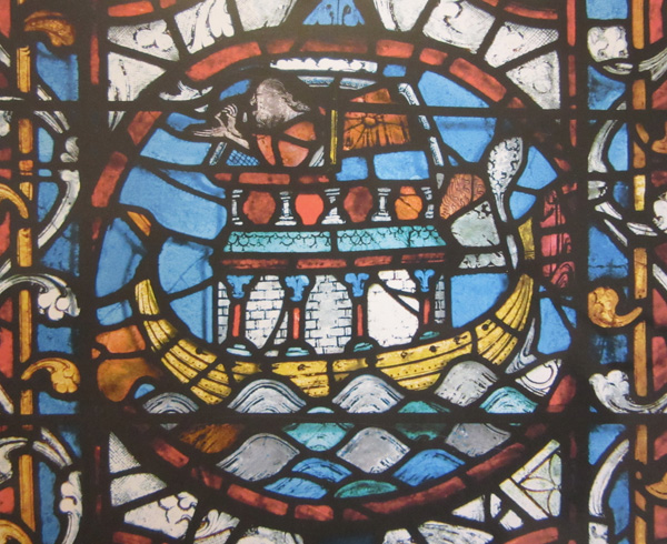 Noah's ark stained glass Lincoln Cathedral