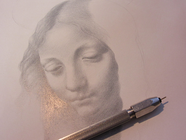 metalpoint goldpoint Leonardo da Vinci Virgin Mary